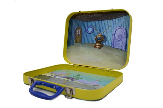 270*210*48mm lunch box with lock and handle