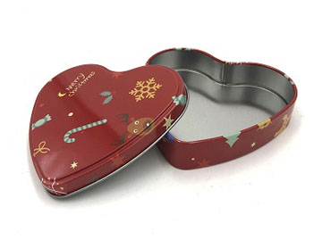 120*112*28mm heart-shaped tin box
