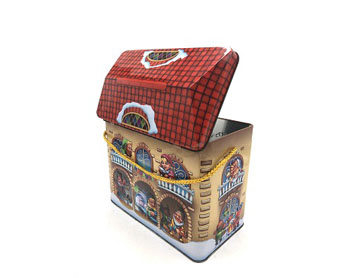 200*110*170mm house-shaped tin box