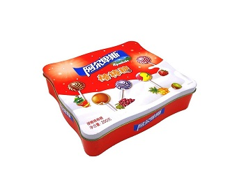 190*180*60mm irregular food tin box